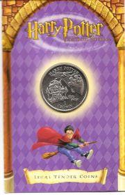 Гарри Поттер (Полёт) 1 крона  Остров Мэн 2002  (буклет)