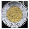 "100 лет стихотворению ""На полях Фландрии"" 2 доллара Канада 2015"
