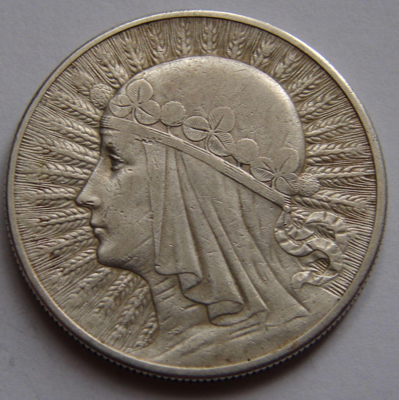 Польская монета 10злотых1932год football coins