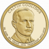 30-й президент США Калвин Кулидж (1923-1929)  1 доллар США 2014 Монетный двор на выбор