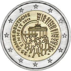 25 лет объединения Германии  2 евро 2015 монетный двор на выбор