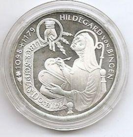 900 лет со дня рождения Хильдегард фон Блинген (1098-1179) 10 марок ФРГ 1998 G
